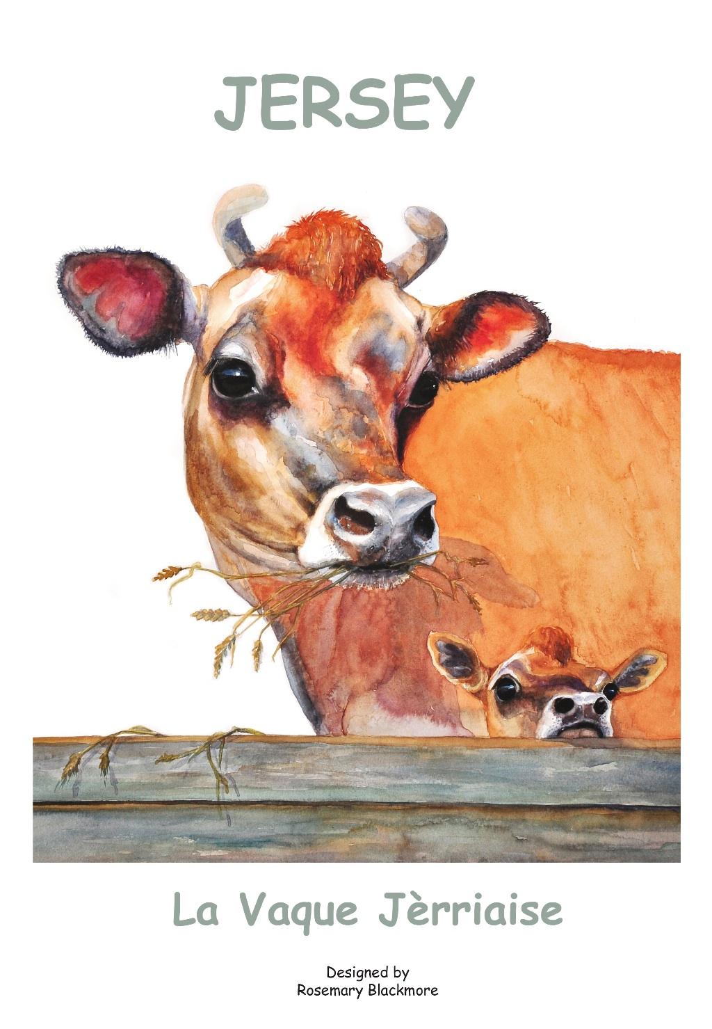 Jersey Cow Tea Towel