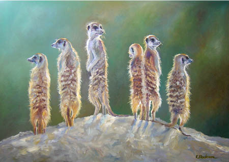 Meerkats Backlit SOLD