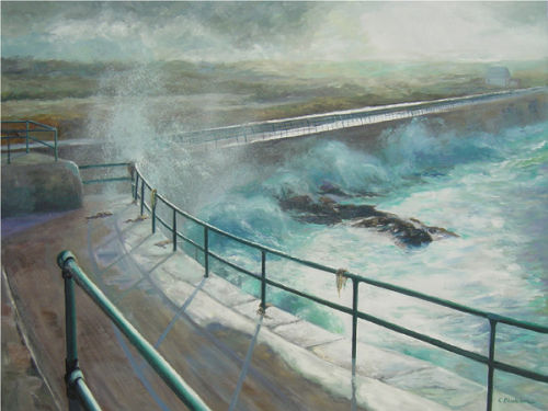 Sea Wall, St Ouen, Jersey<br>