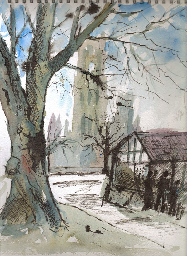 Towards Ely Cathedral - 2014