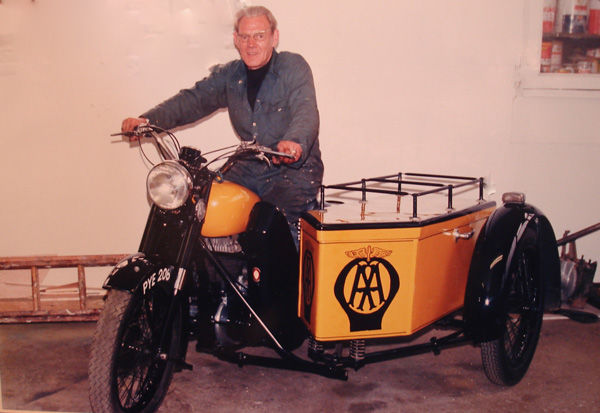 Dad on Museum Bike