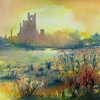 "Ely Sunshine - 6x6"" - Greetings Card"