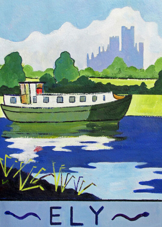 """Ely Poster - 4x6"""" - Greetings Card"""