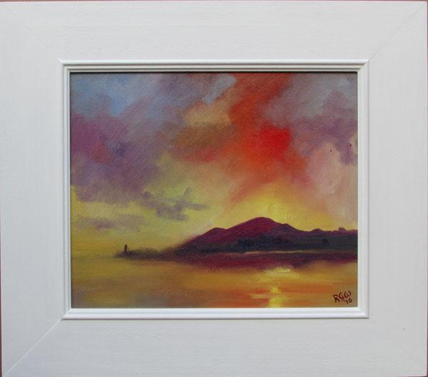 Sunset over Criffel Framed in White
