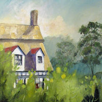 Sunshine on a Thatched Cottage