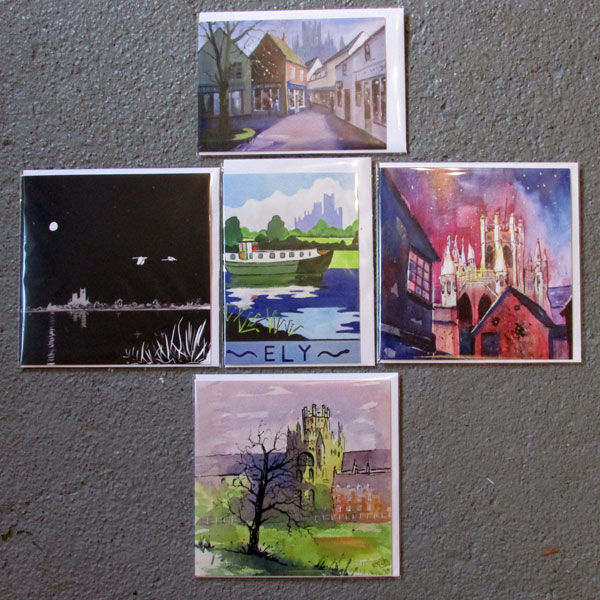 The Ely Set of 5 Cards - images may vary