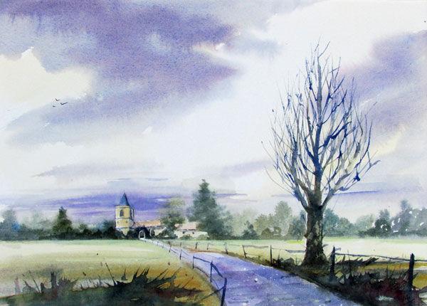Towards Gt Abington Church