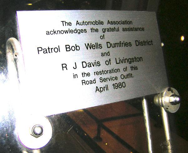 Plaque on Bike in Museum
