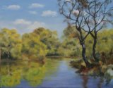 Goldings Hill Pond (33x42)