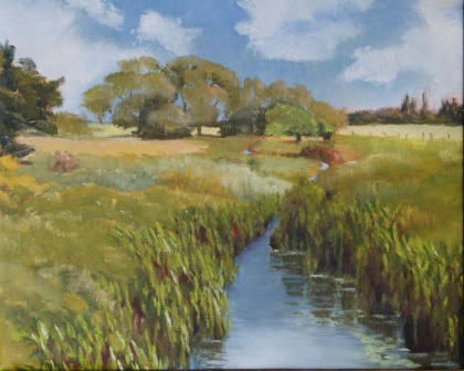 Lilies on the Roding (26x32)