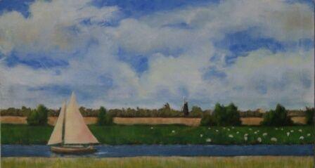 Windmill on the Broads (26x48)