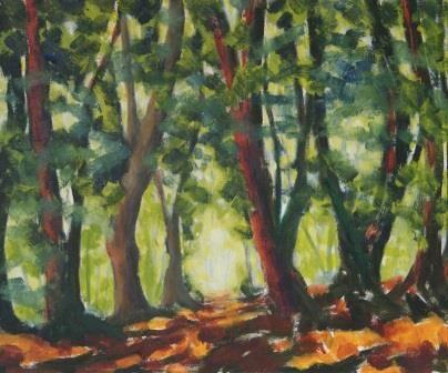 Forest, Summer ((35x42)