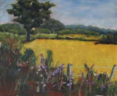 Fields near Abridge (38x40)