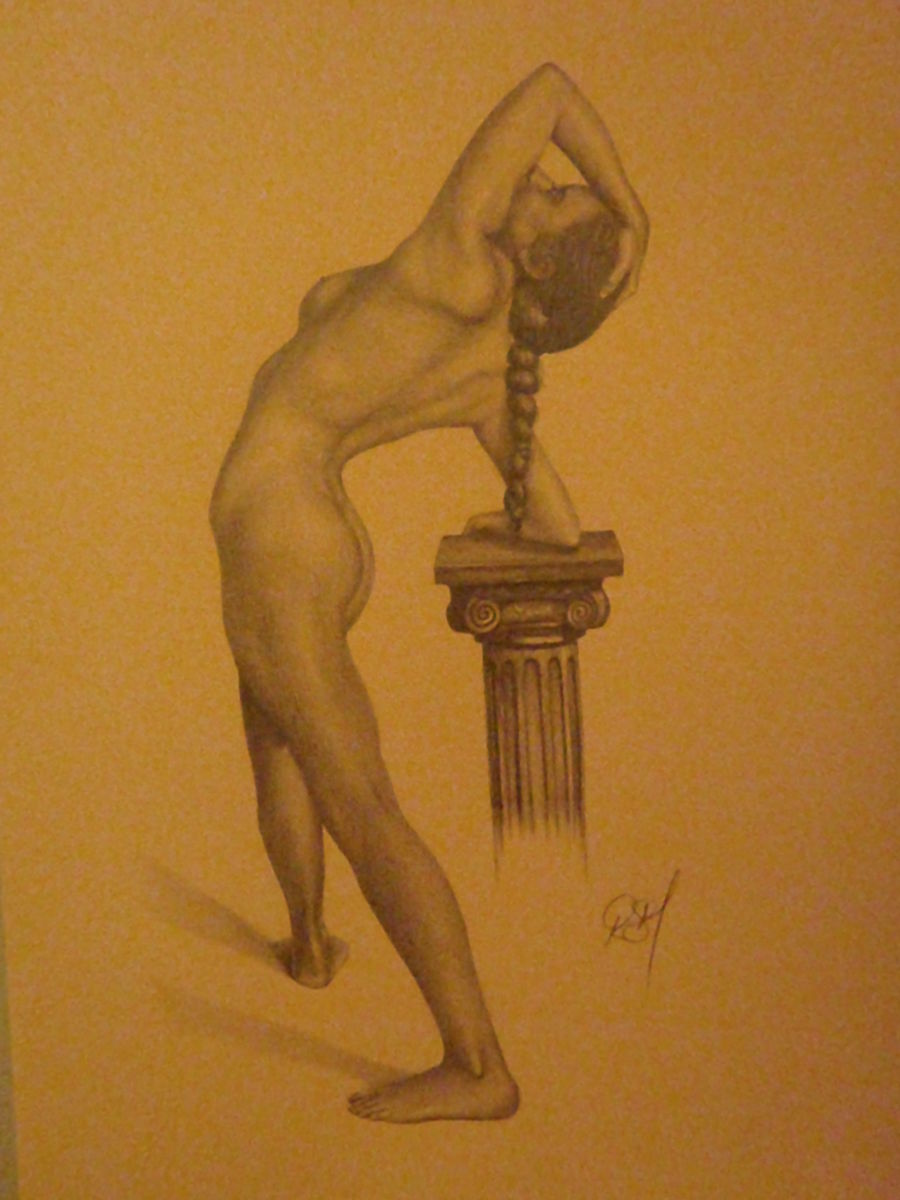 Girl and Plinth