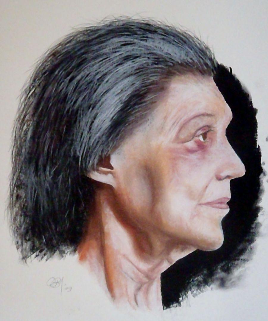 Paula Rego Pastel Study
