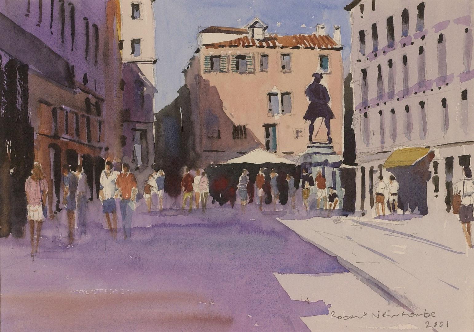 Evening shoppers, Campo San Bartolomeo, Venice