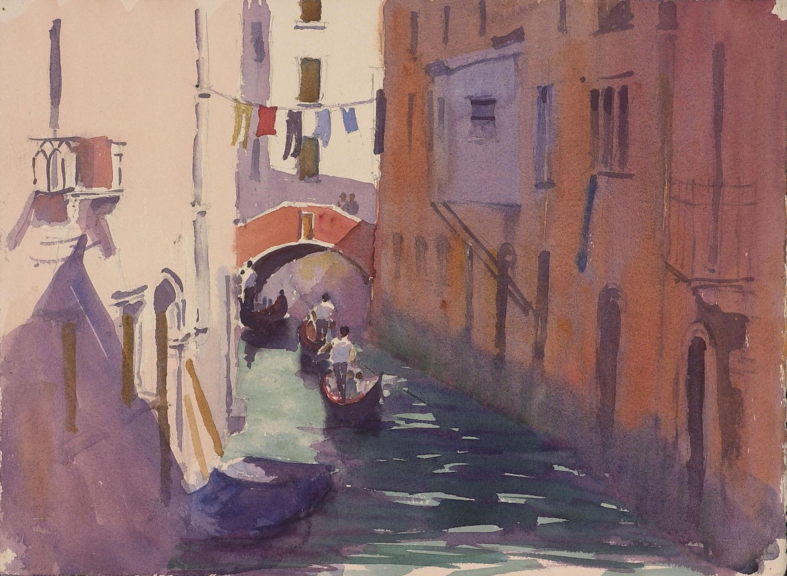 Washing and Gondalas, Venice
