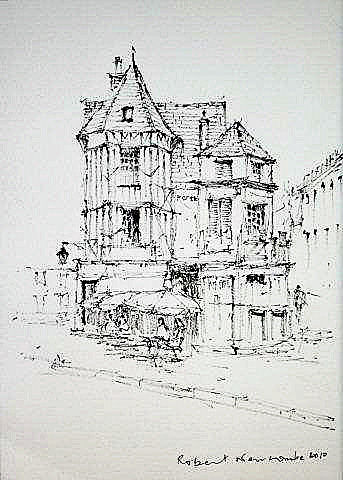 Auxerre, France  line drawing