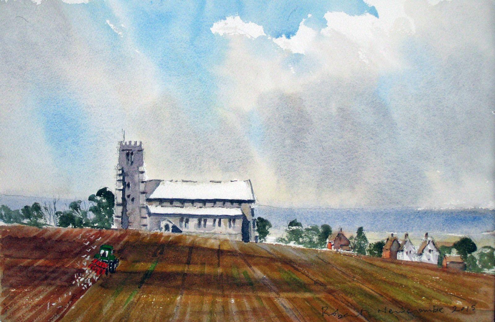 Ploughing near Salthouse, Norfolk
