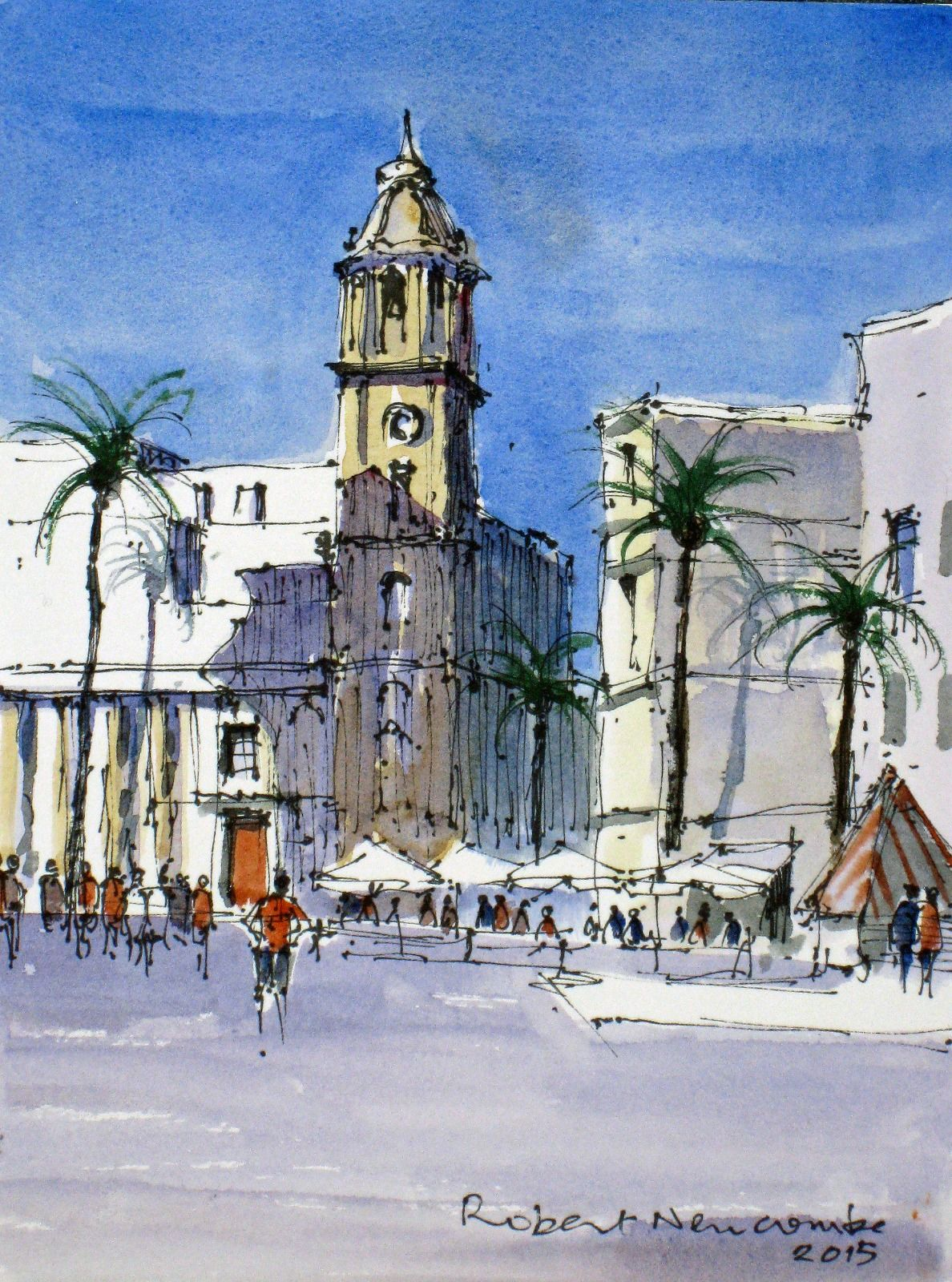 Piazza by the Cathedral, Cadiz