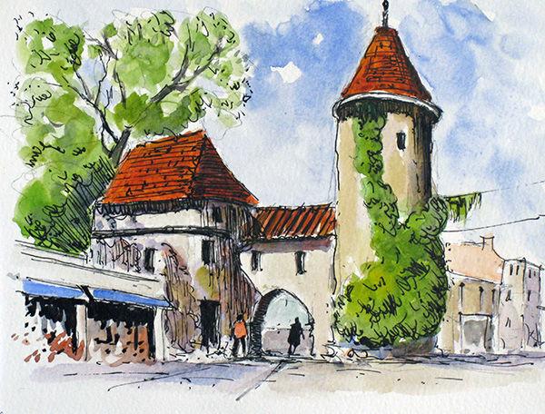 Viru Gate,Tallinn, Estonia