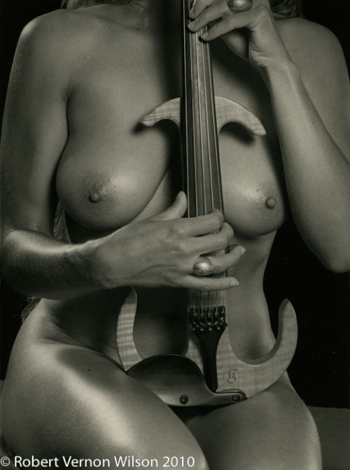 Seated Nude with Ring and Violin