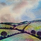 Purple Hedgerows. SOLD