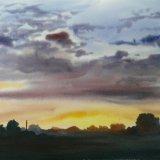 The Last Light - Sunset From Mareham Pastures