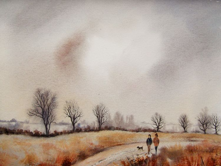Winter Walk, Mareham Pastures. Sold