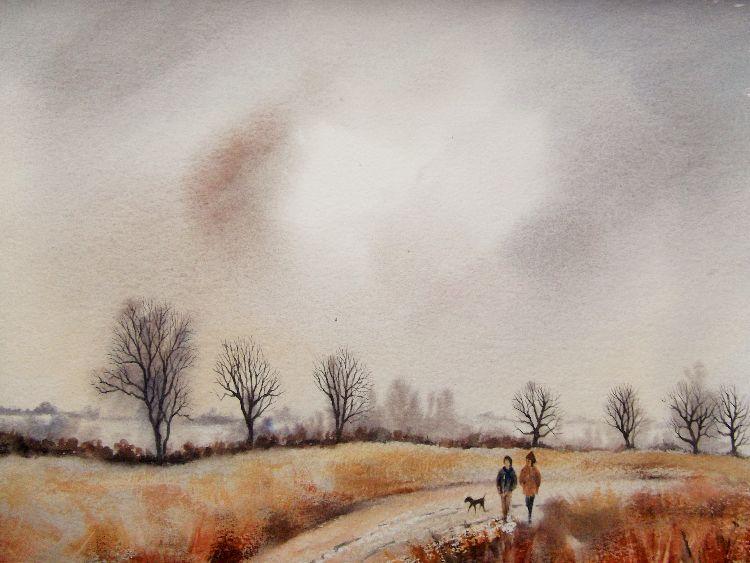 Winter Walk, Mareham Pastures. Sold