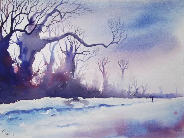 Winter Trees Near Sleaford SOLD