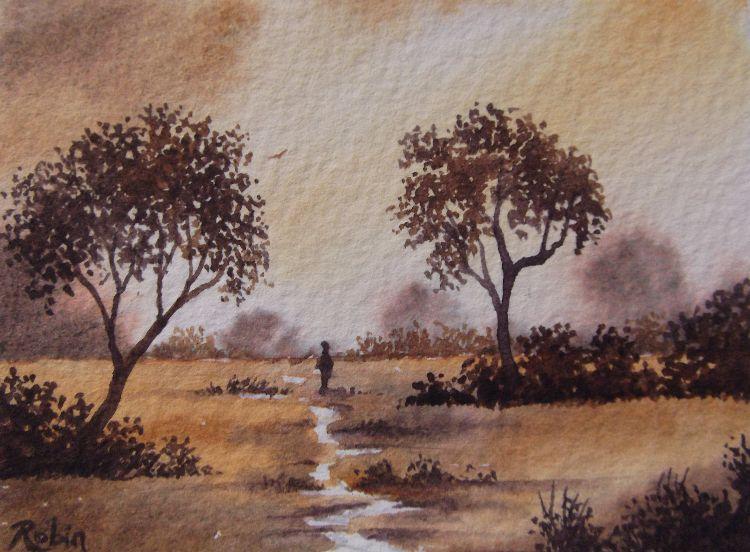 Two Colour Landscape SOLD