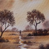 Two Colour Landscape SOLD