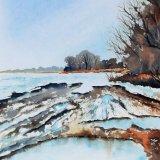 Puddles In The Snow, Mareham Pastures