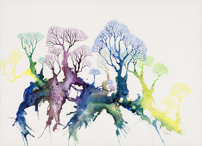 Winter Trees. SOLD