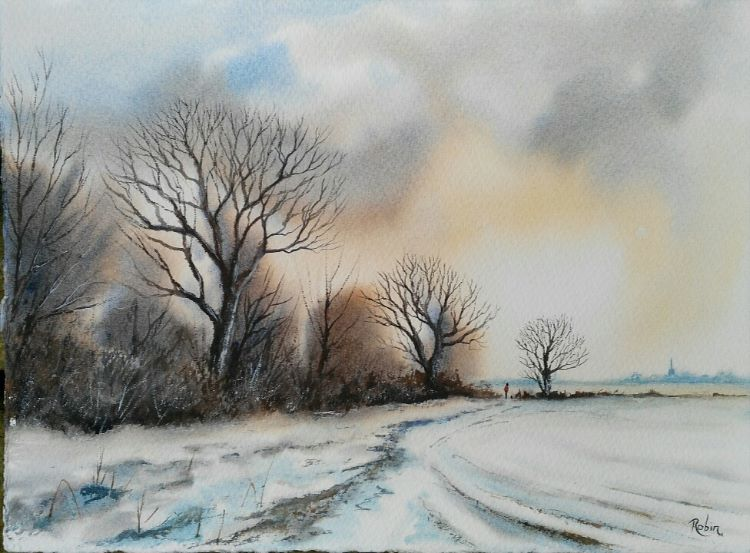 Snow near Mareham Pastures SOLD