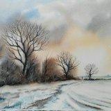 Snow near Mareham Pastures SOLD