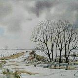 Winter, Looking Back to Mareham Lane