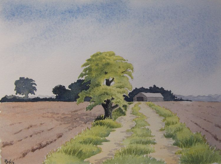 Farm Track and Barn