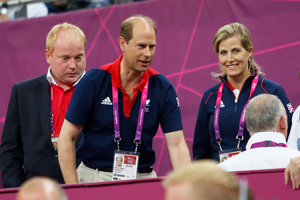 Prince Edward and Sophie, Countess of Wessex attend to support the GB wheelchair basketball team