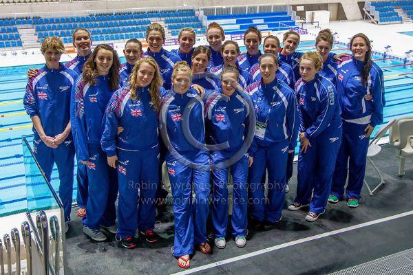GB Womens Water Polo Team at Aquatics Centre