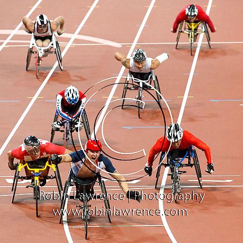 David Weir winning gold