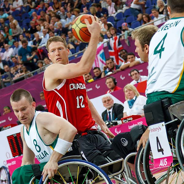 The amazing Patrick Anderson of Canada in final v Australia