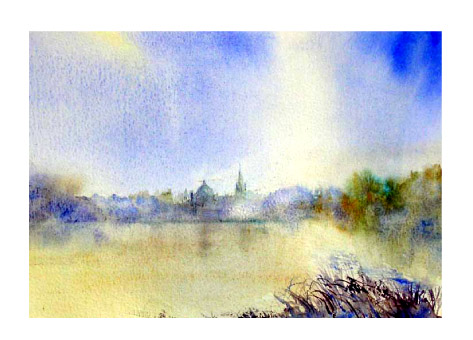 Oxford from Hinksey Park (sold)