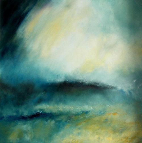 Waves Breaking Against the Wind (sold)