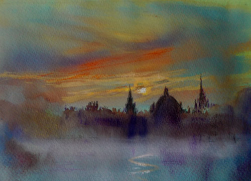 Oxford, Early Morning Mist (SOLD)