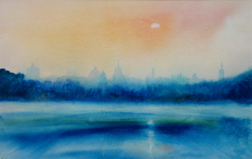 Oxford, Port Meadow after rain (sold)