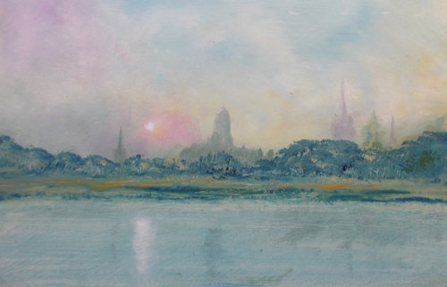 Oxford from the Cherwell (sold)