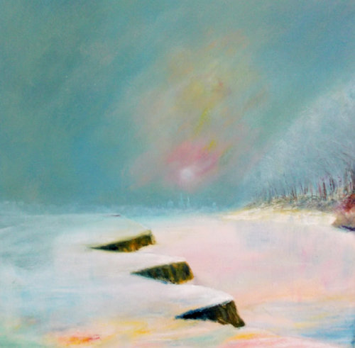 , Oxford, Port Meadow snow (sold)