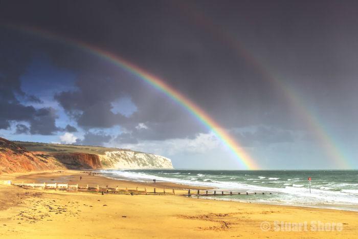 Double Rainbow at Yaverland
